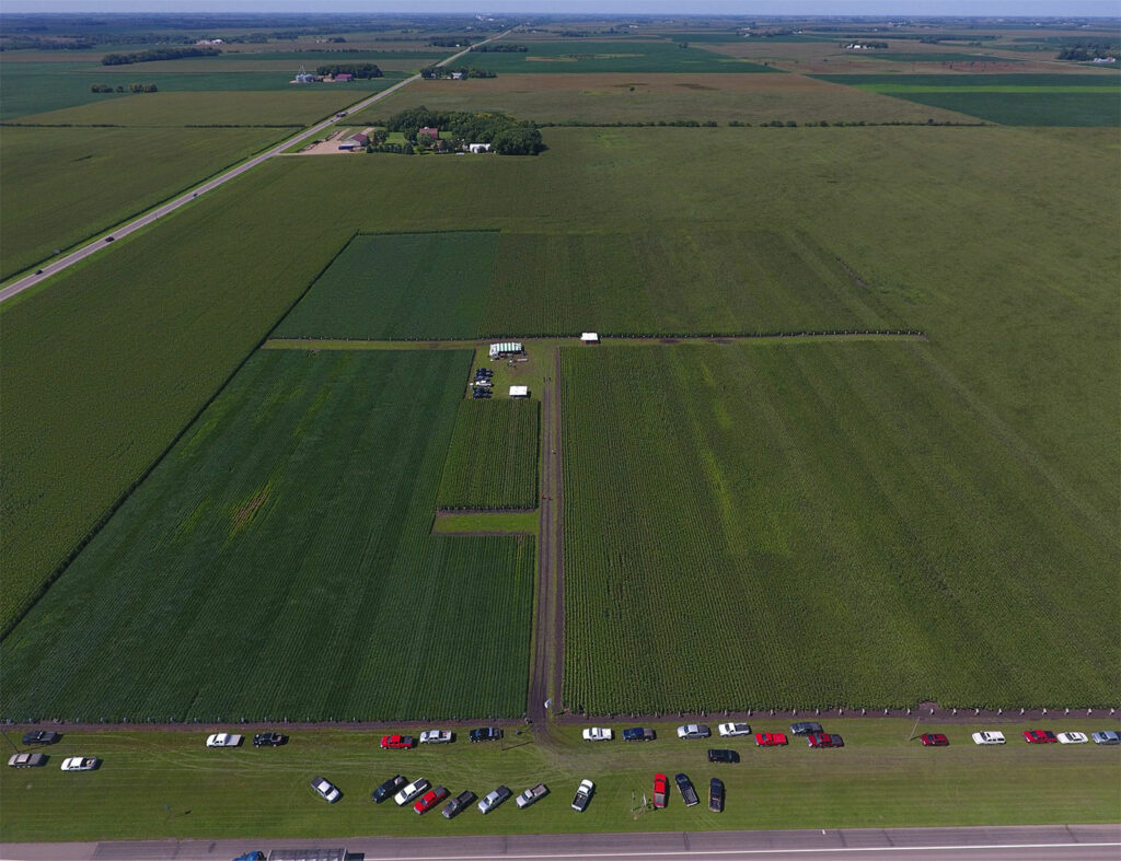 Arial View of Farm Field Plots
