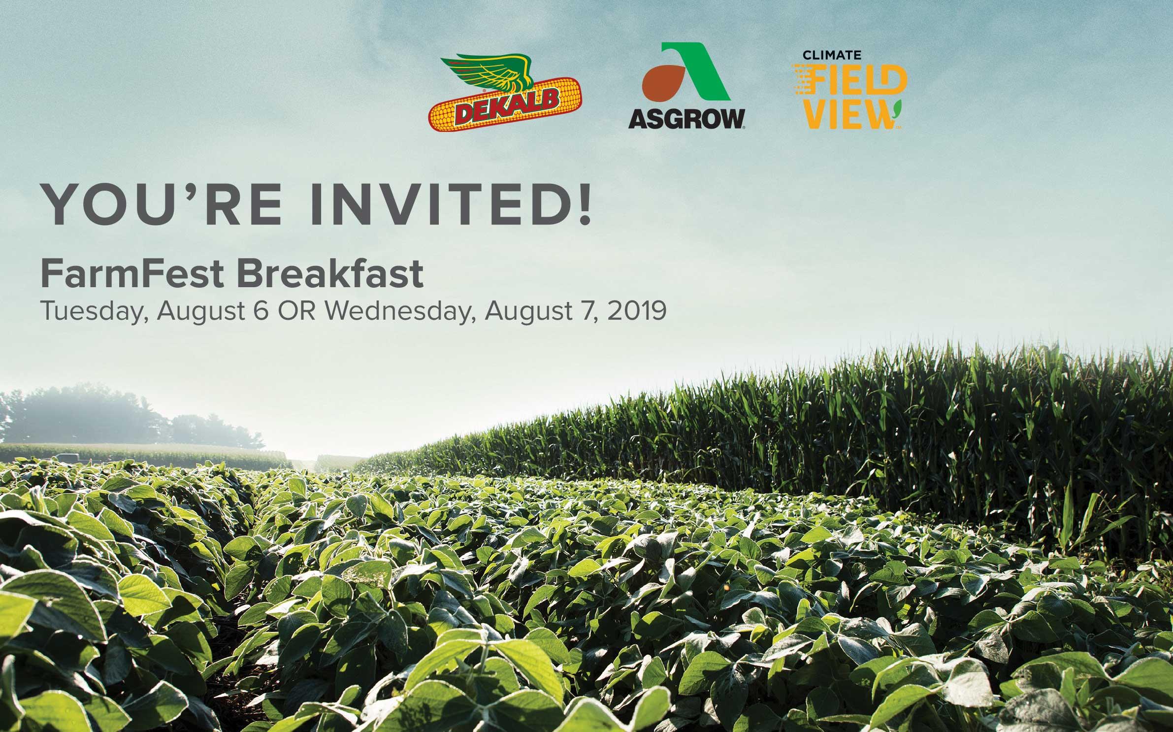 FarmFest Breakfast Invitation